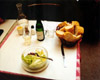 Salad, Wine & Bread, Paris, France