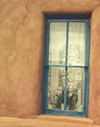Turquoise Window, Lace, Santa Fe, New Mexico